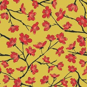 Cherry Blossom - Red Yellow
