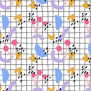 Springtime Pattern (white grid)