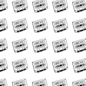 Love Songs Tape (black and white)