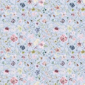 Nouveau Rococo n watercolor flowers