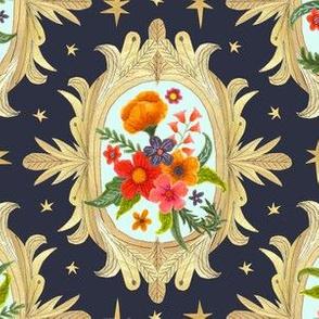 gold framed floral