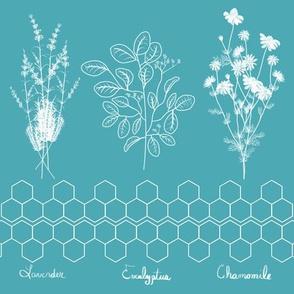Relaxing Herbs - teal