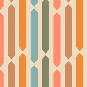 Mid-Century Hexagon Stripes