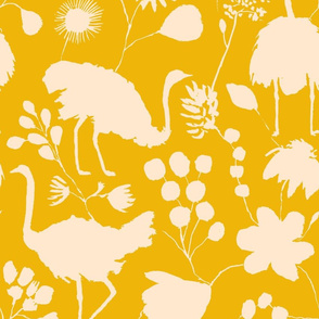 Ostriches Yellow