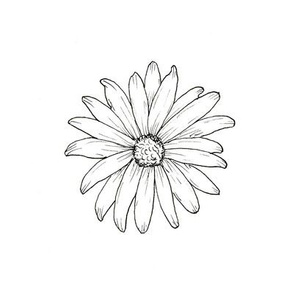 Daisy 6 inch Embroidery Pattern
