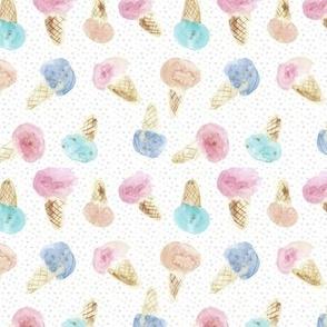 watercolor ice cream cones - summer sweets icecreams a121-4