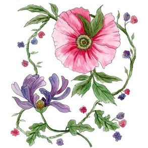 Colonial Floral Watercolor