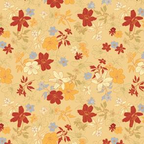 Winterflowers Golden medium