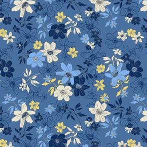 Winterflowers Blue Small