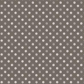 gray polka dots , textured painty look