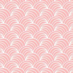 art deco pink geometric ocean waves