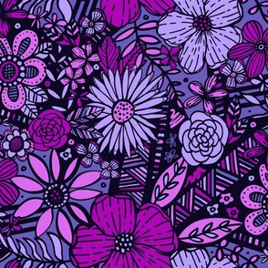 Floral Frenzy (Purples)