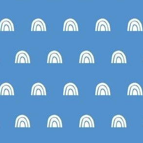 Rainbow Stampe - blue
