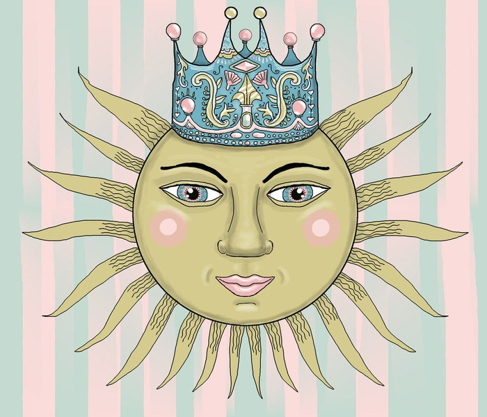 Rococo lite:  The Sun King, jumbo large scale, pink green mint blue yellow gold black white pastel pastels Victorian