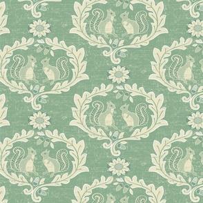Rococo Squirrels Jade