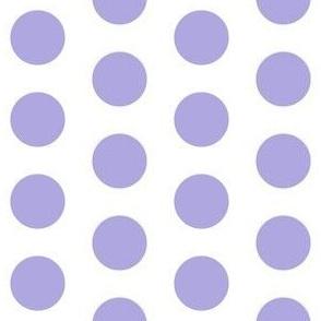 Large lilac polkadots on white - 1 inch polkadots