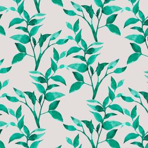 Watercolor leaf pattern