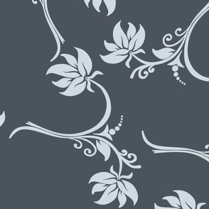 Floral Rococco Scroll