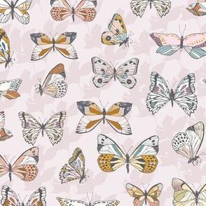 Eden Butterflies (shell pink) MED
