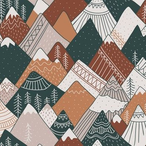 Mountains in brown colors, 550 dpi
