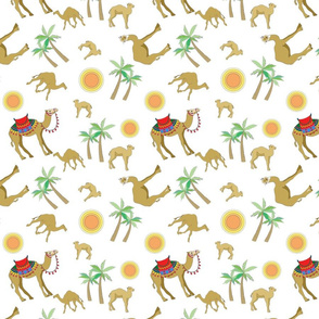 Camels in the Desert