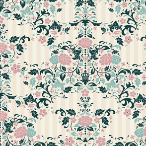 rococo style pattern