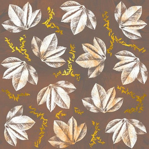 Brown and gold leaf pattern