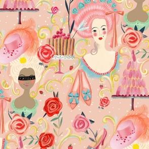 sweet rose rokoko flourish