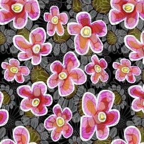 Deep pink garden