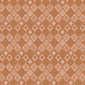Boho Fair Isle Medium Rust