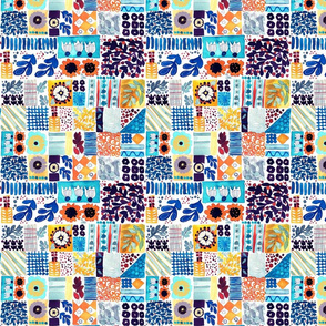 Boho Blues Quilt 8x8