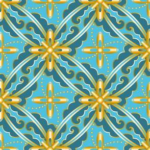 Rococo Nouveau (blue)(lg)