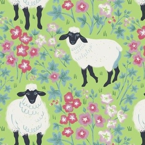 Sheep and mallow