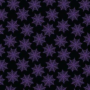 Pastel Goth Spider Web Purple -S
