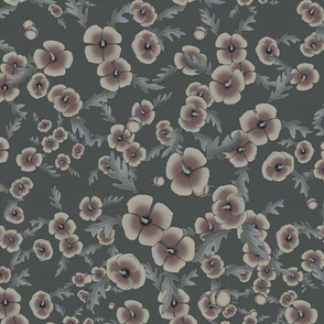 Poppies in Muted Tones