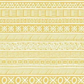 "7"" Yellow Mama Bear and Cub Quilt Doodles Print"