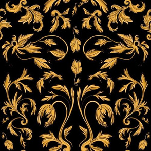 rococo gold leaves
