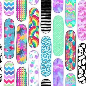 Artful skateboard decks board sport patterns