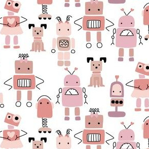 Galaxy Quest robots in pink