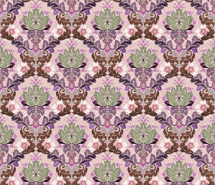 Rococo in Lavender and Sage