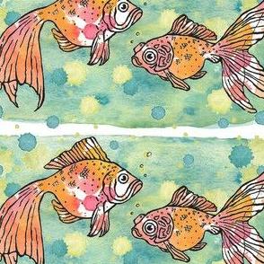 Goldfish (pen & ink, watercolor)
