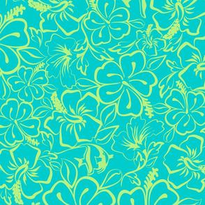 Surfs Up- Frangipani blue