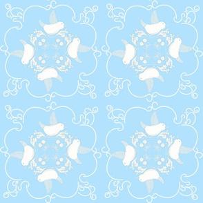 Rococo Blue Birdies