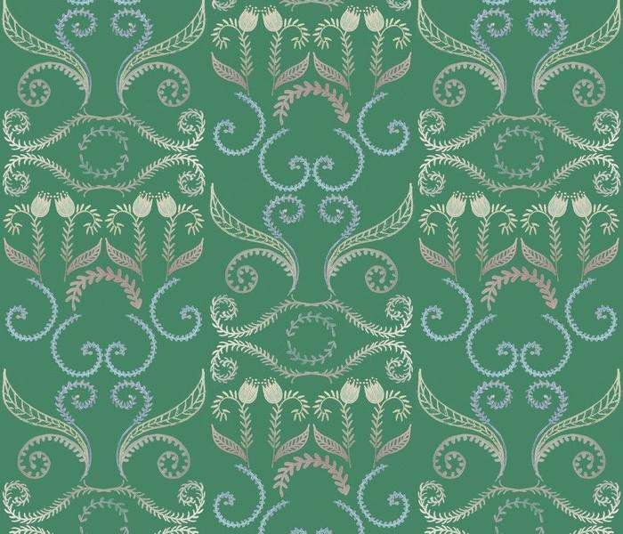 Handmade Rococo Lace green