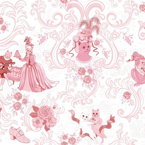 Rococo Cats Pink