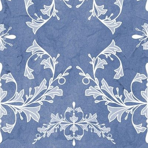 Large Dusty Blue Rococo