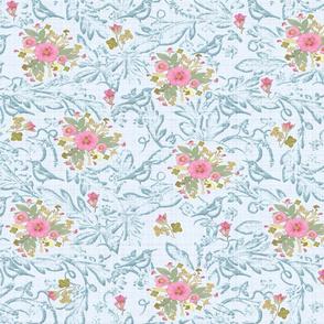 rococo roses n birds jumbo