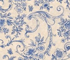 Rococo Toile Blue