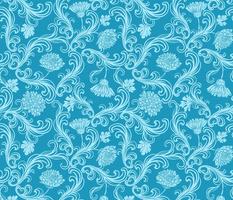Blue chrysanthemums rococo