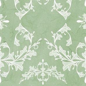 Large Sage Green Rococo